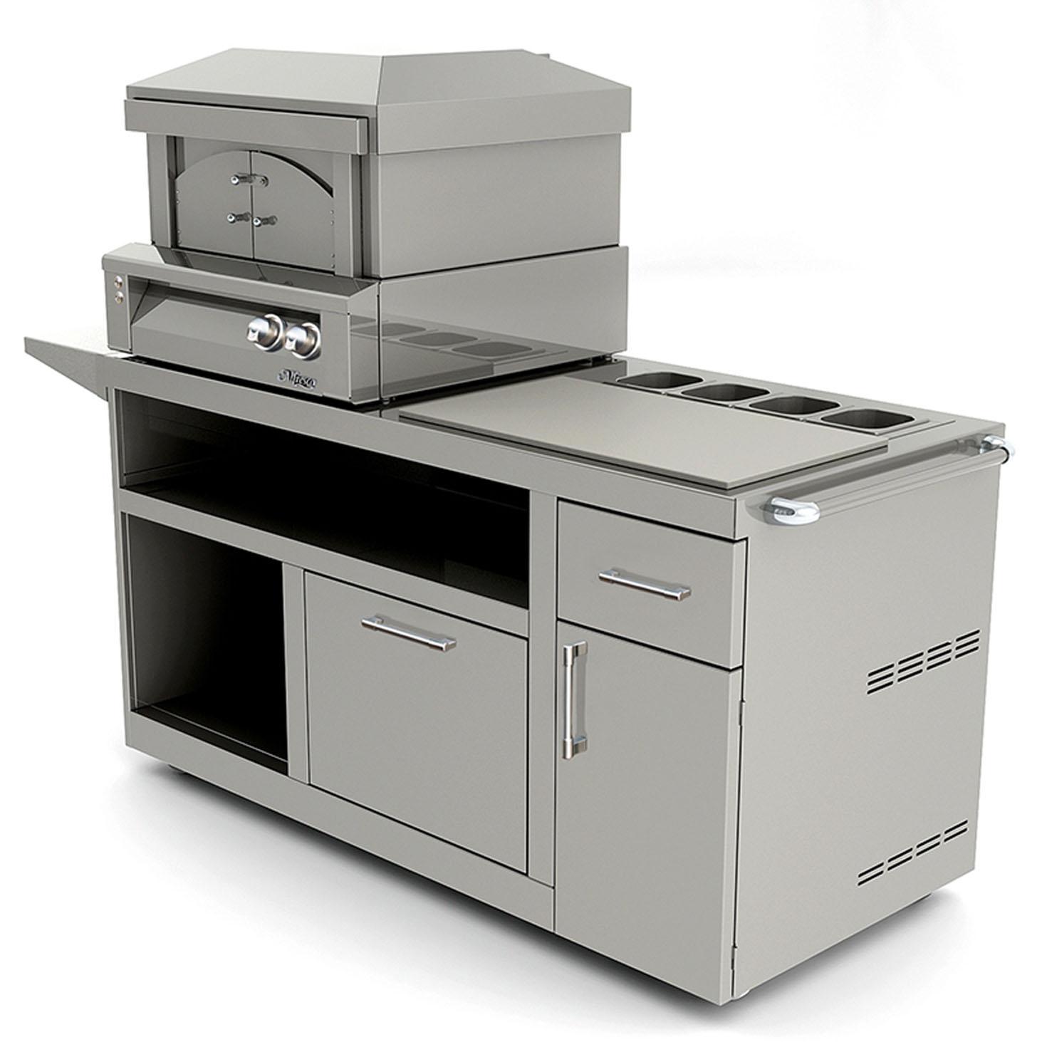 Picture of Alfresco 30-Inch Deluxe Pizza Oven Prep Cart - AXE-PZA-PPC