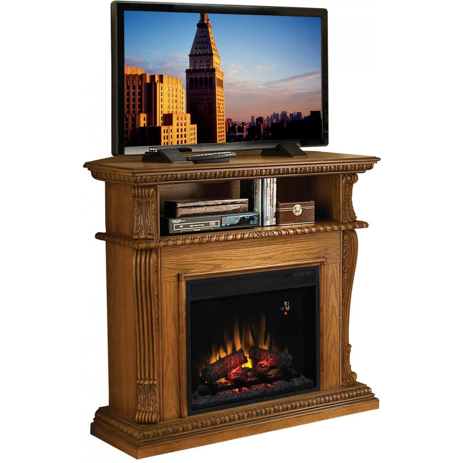 ClassicFlame 23DE1447-O107 Advantage Corinth Dual Use Electric Fireplace - Premium Oak