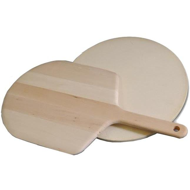 Picture of KettlePizza Wood Pizza Peel and Cordierite Stone Kit