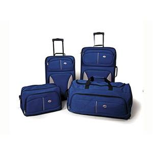 American Tourister Fieldbook 4-Piece Luggage Set - Cobalt Blue