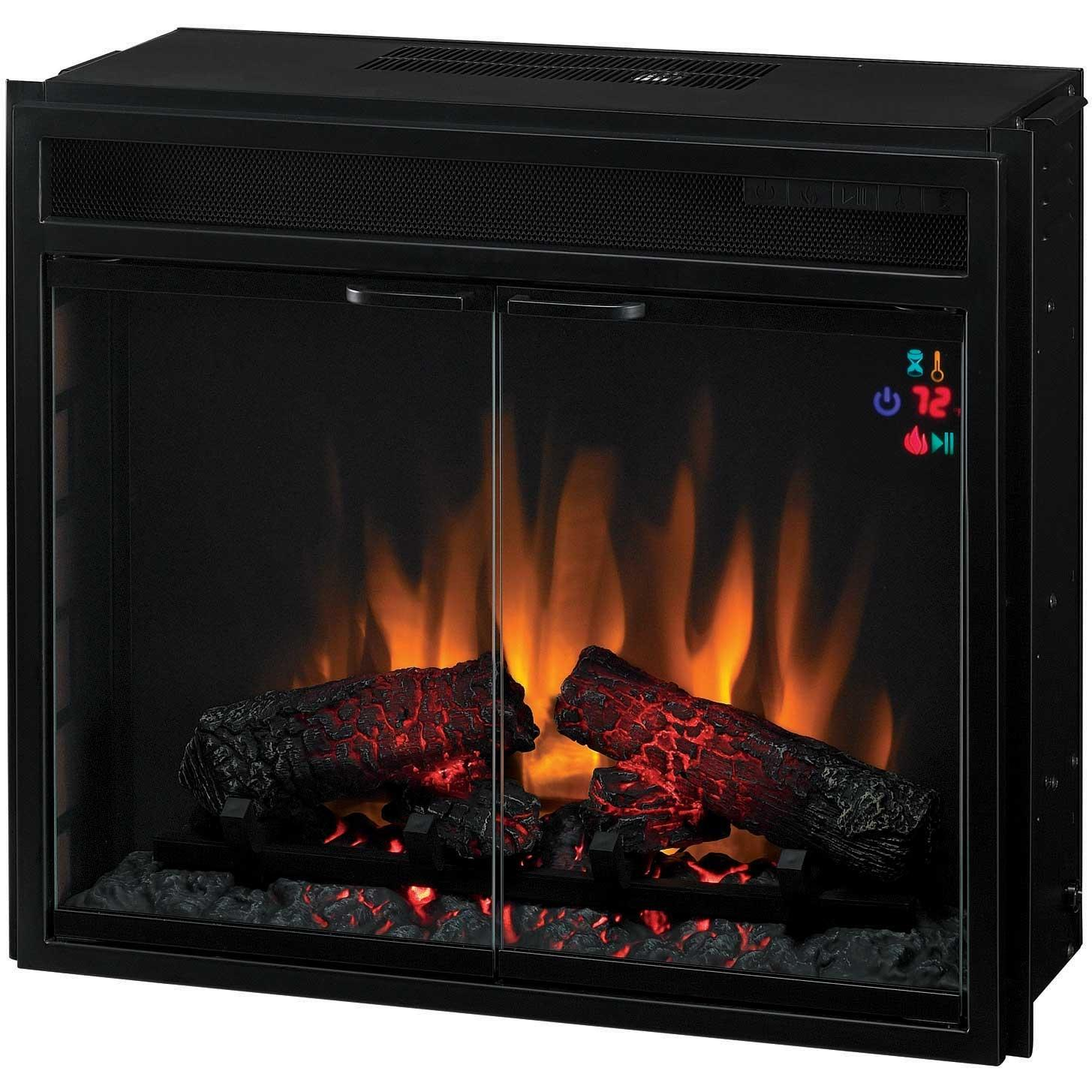 ClassicFlame 23EF025GRA 23 Inch Electric Fireplace Insert With Doors And Remote - Black