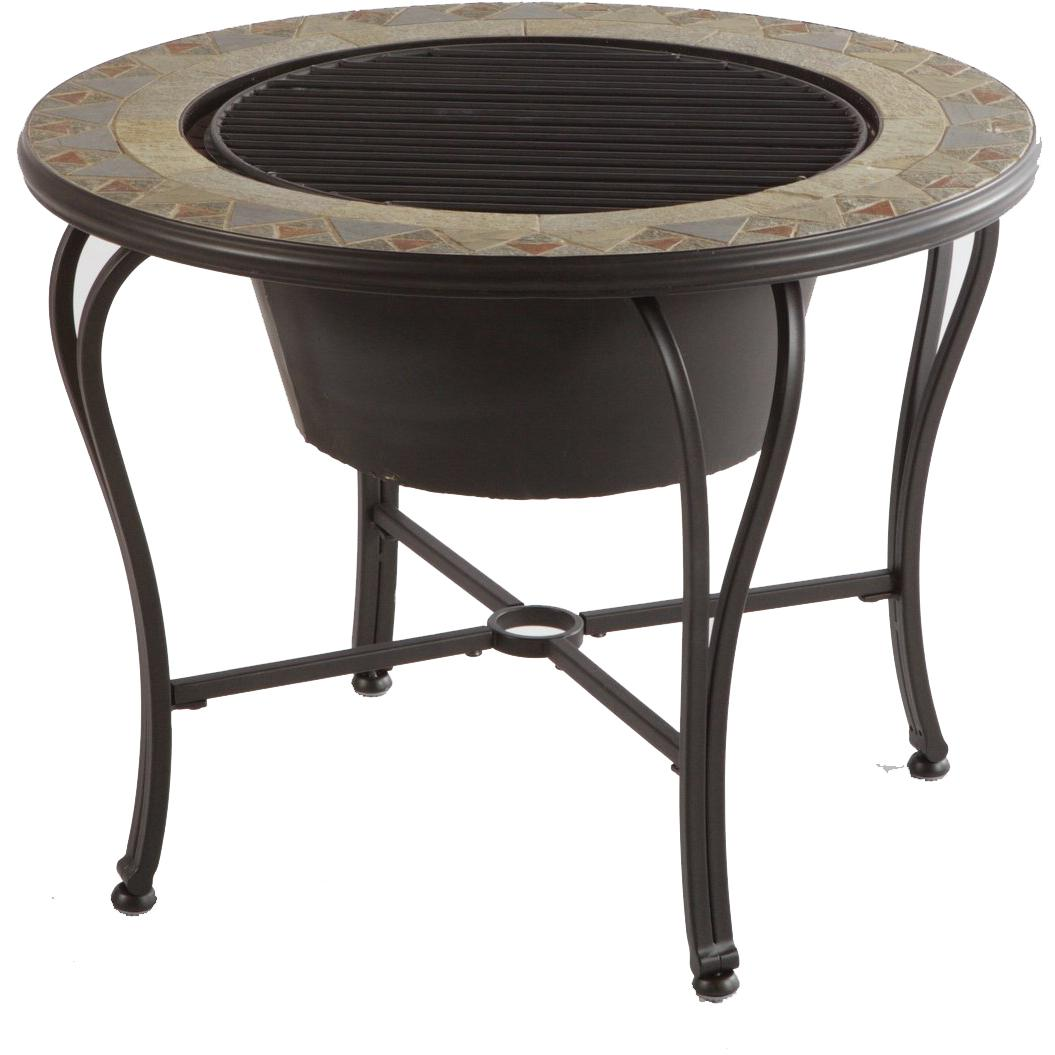 Picture of Alfresco Home Notre Dame Mosaic Fire Pit & Beverage Cooler Table