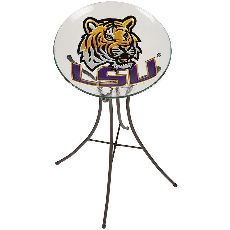 Evergreen Decorative Glass Bird Bath Bowl - LSU