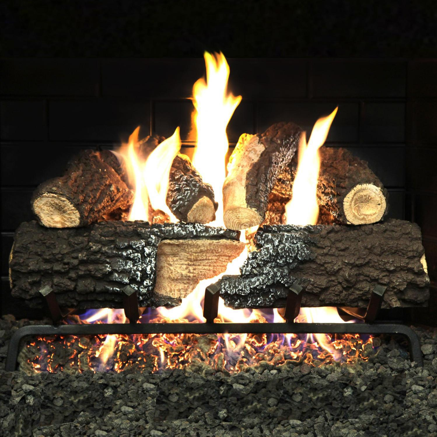 Picture of Alpine Flame 18-Inch Charred Canyon Fire Vented Natural Gas Log Set