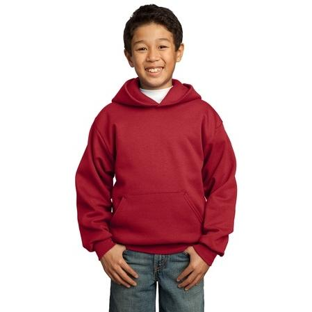 Port & Company Youth Hooded Pullover Sweatshirt XL - Red