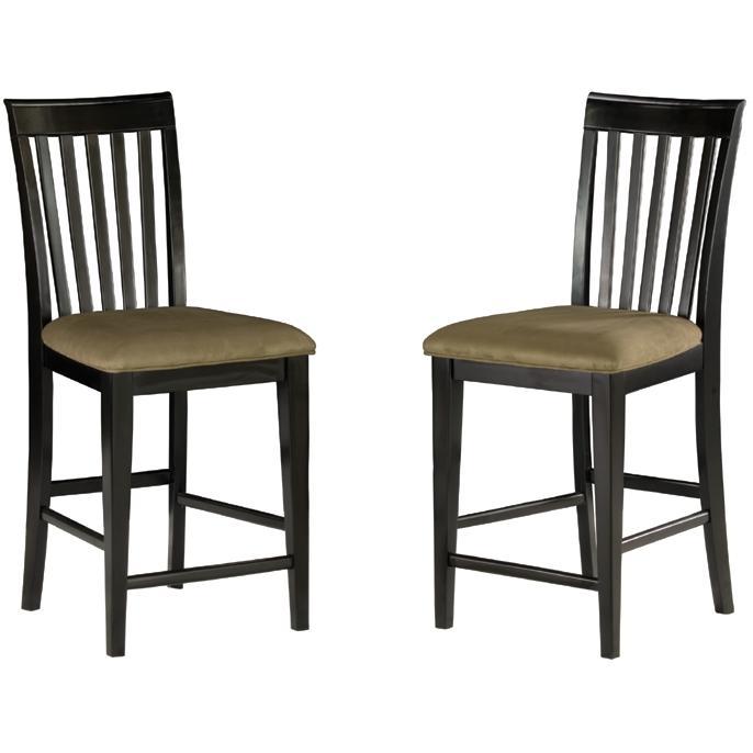 Atlantic Furniture 7002110 Mission Pub Chairs Espresso W/ Cappuccino Cushion (Set Of 2 Chairs)