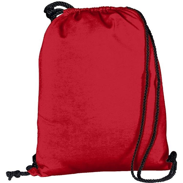 Augusta Athletic Fleece Drawstring Backpack - Red