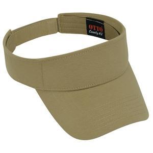 Otto Cap Comfy Cotton Jersey Knit Sun Visor - Khaki Brown