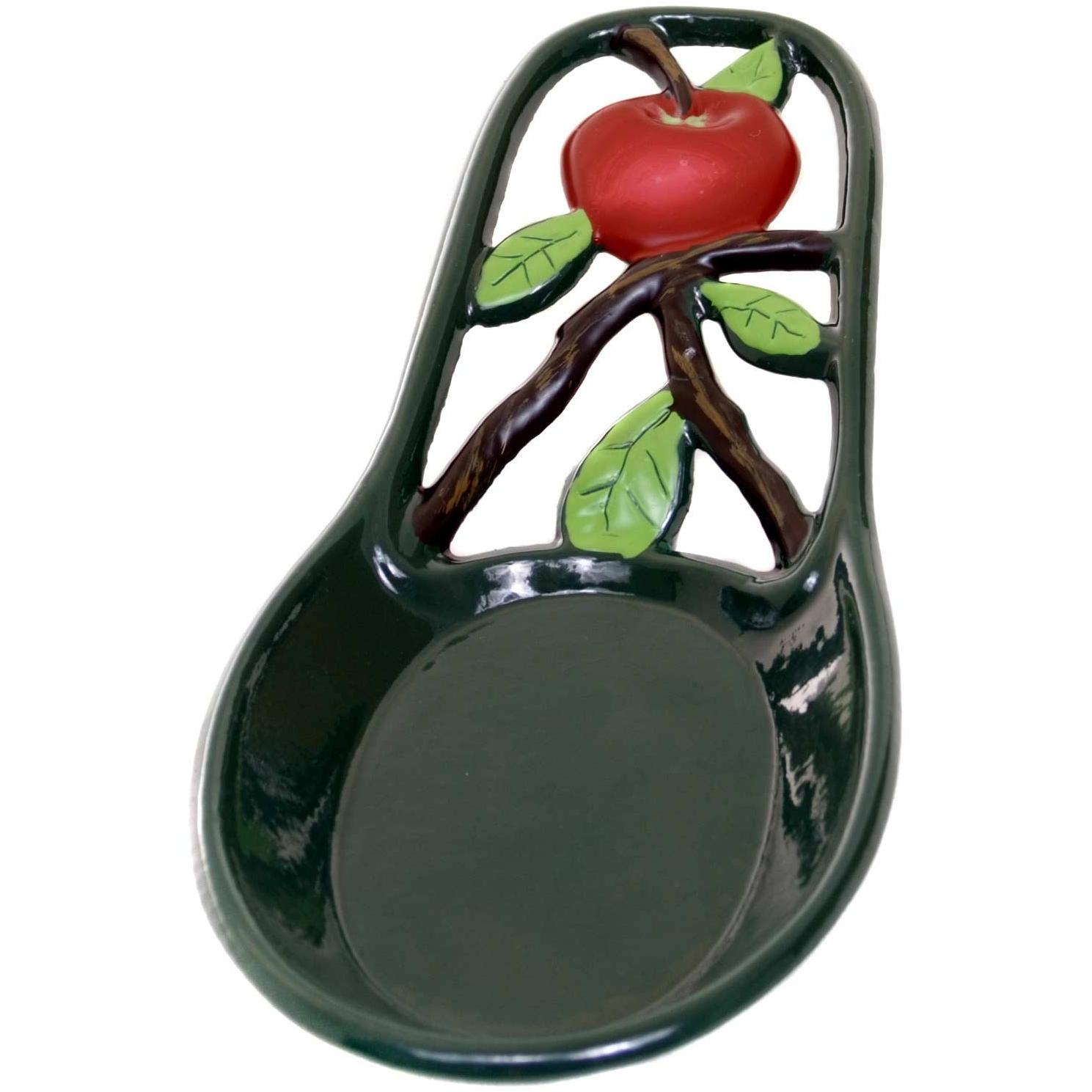 Old Dutch Hand Painted Apple Spoon Rest