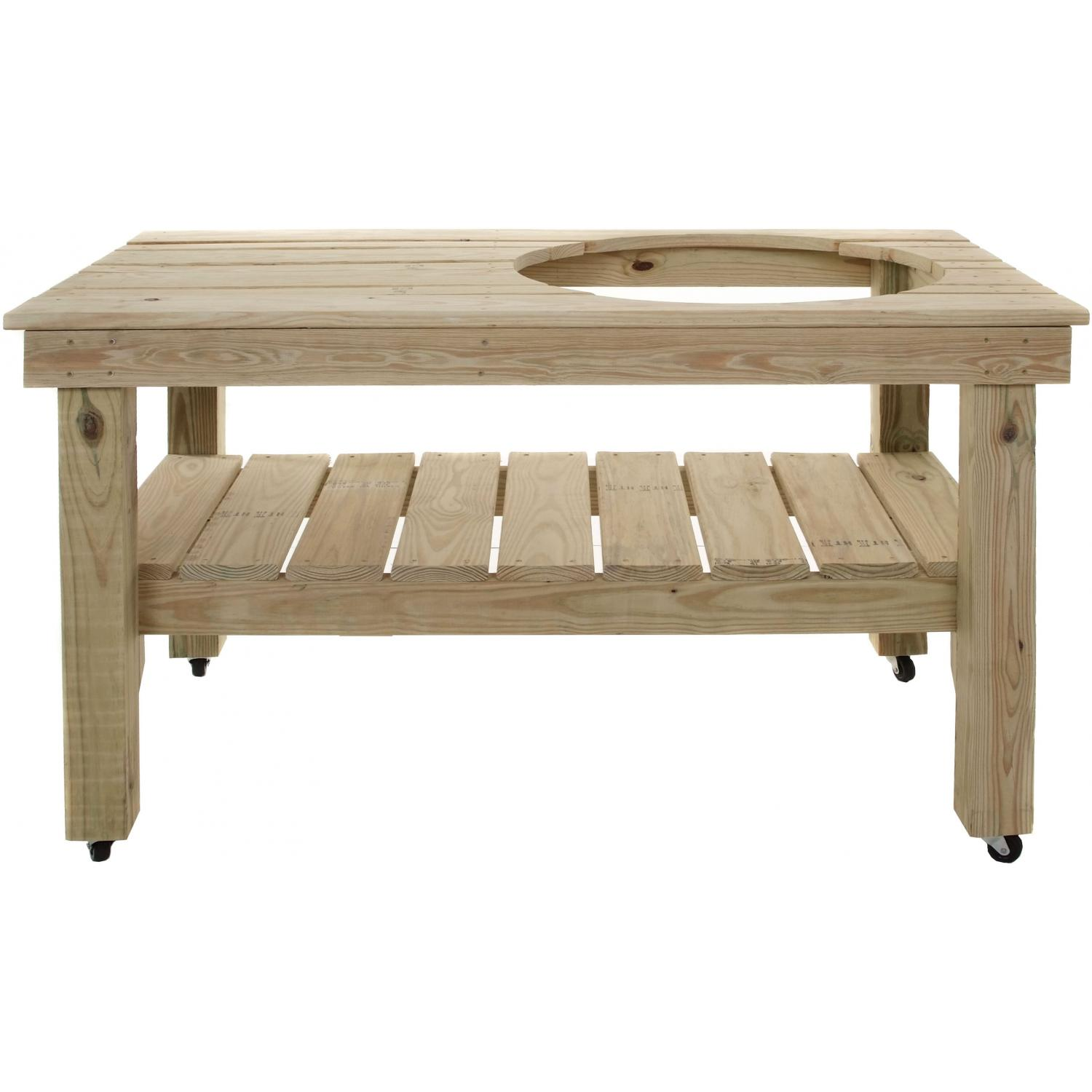 Grill Dome XL 58 X 32 Inch Pressure Treated Wood Table