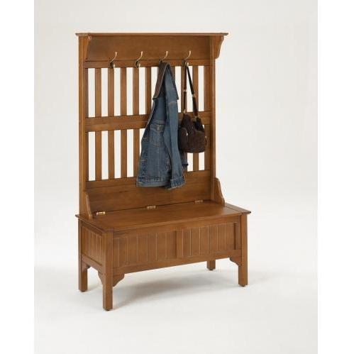 Home Styles Full Storage Bench - Cottage Oak - 5649-49