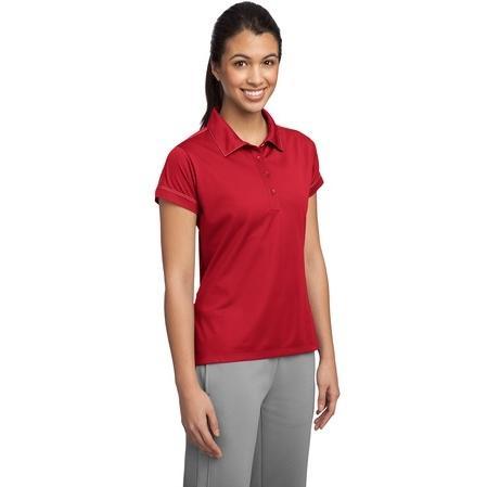 Sport-Tek Ladies Contrast Stitch Micropique Sport-Wick Polo Shirt Medium - True Red