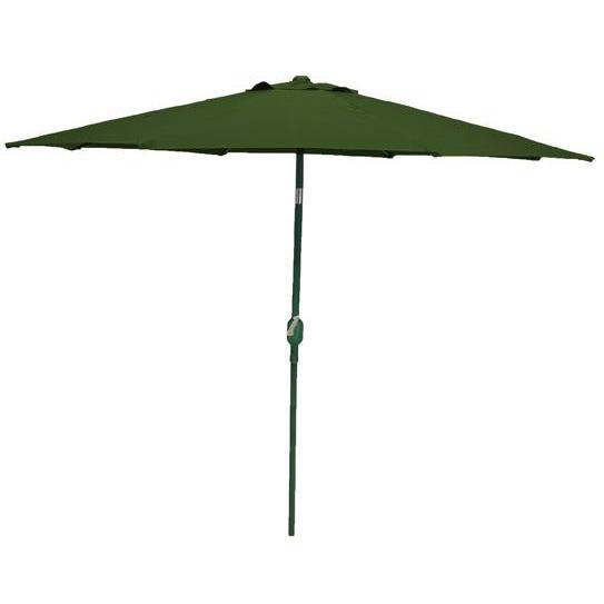 Bond Manufacturing 9 Foot Crank/Tilt Market Umbrella - Dark Green