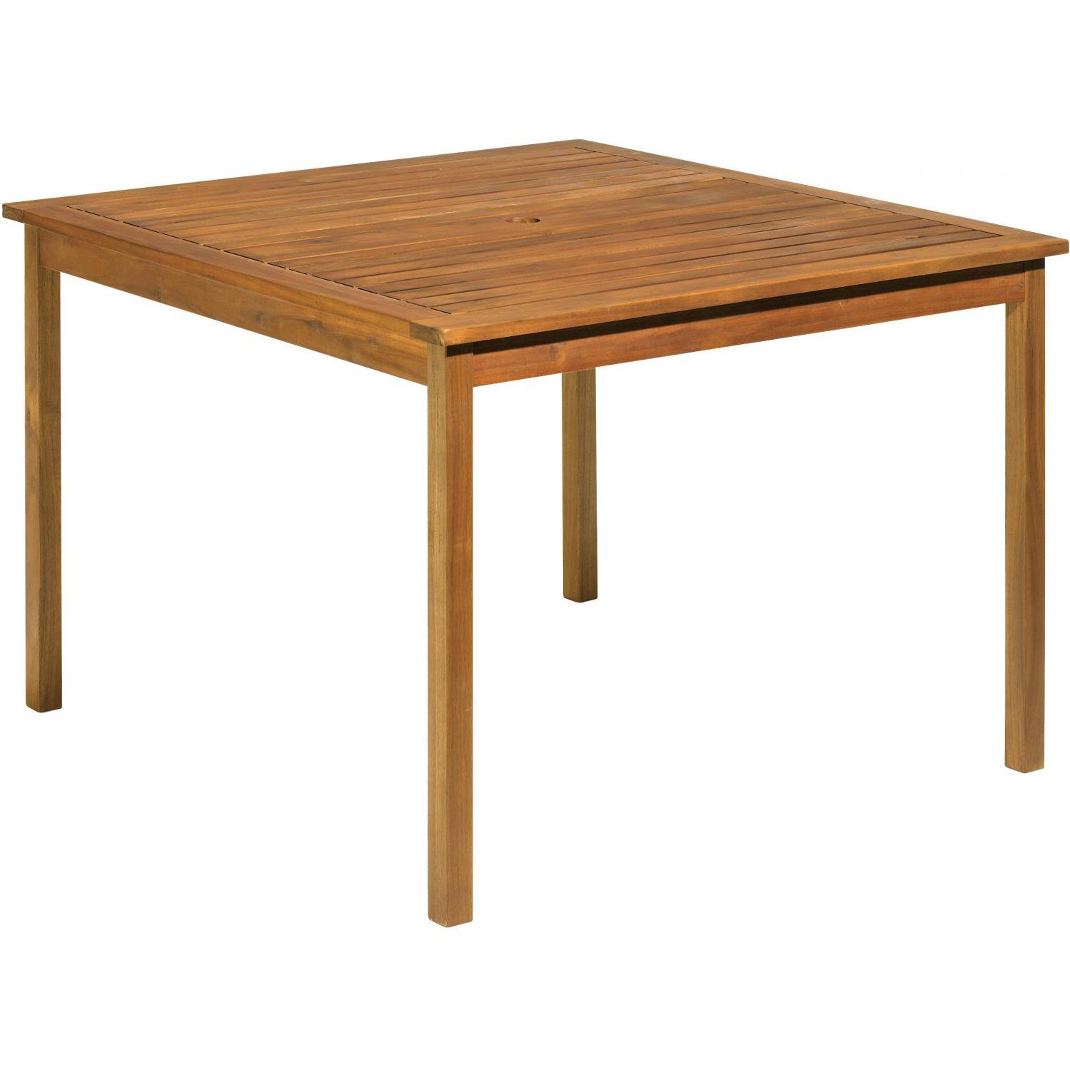 Picture of Oxford Garden Capri Wood Patio Dining Table - Brown Umber
