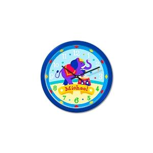 Olive Kids Personalized Wall Clock - Big Top Blue Frame
