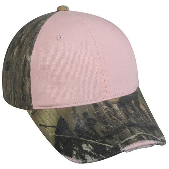 Outdoor Cap Ladies Frayed Visor Camo Cap - Pink/MOBU