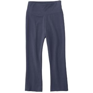 Bella Ladies Cotton/Spandex Capri Pant Large - Navy