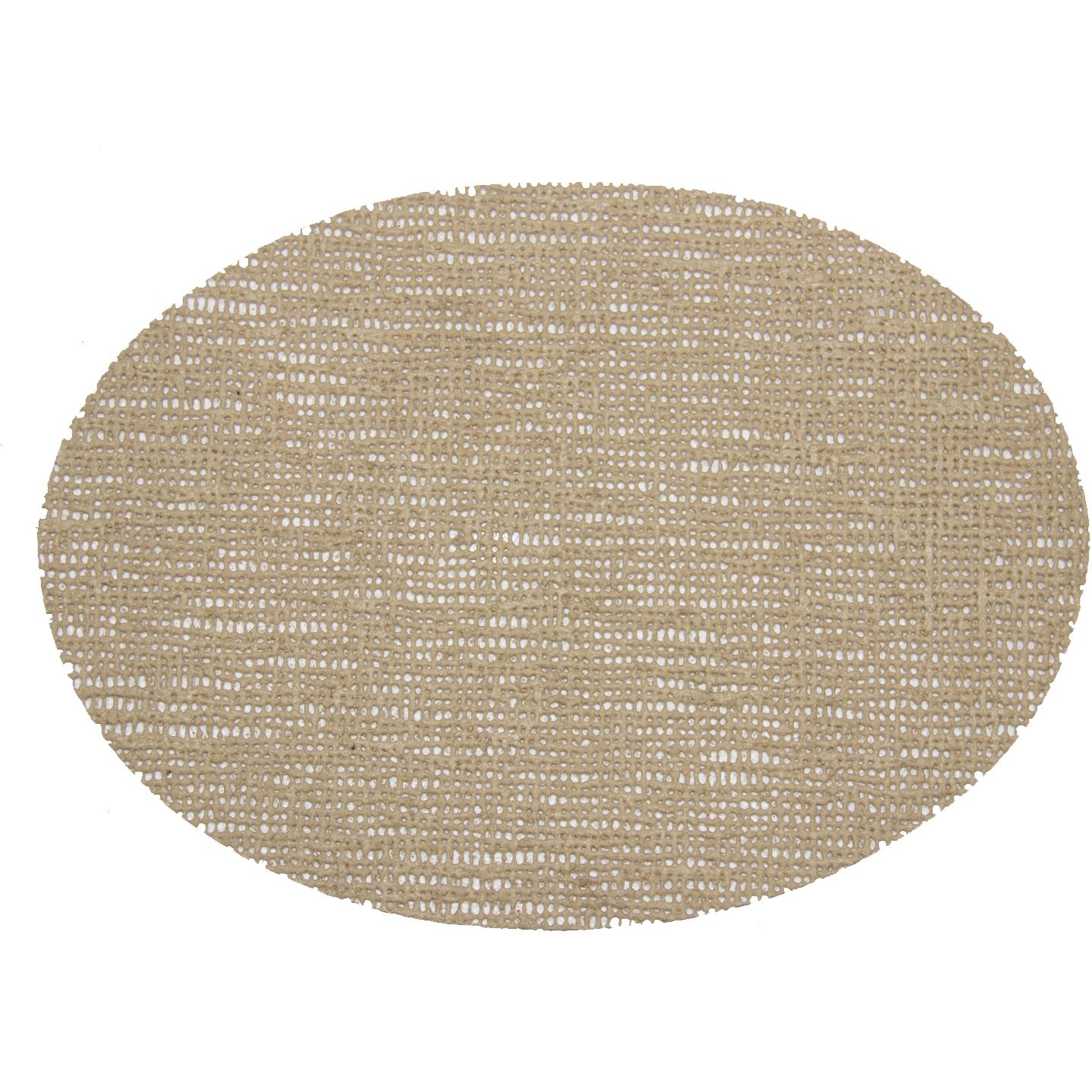 Picture of Fishnet Placemats 18 X 13 Oval Placemat - Beige