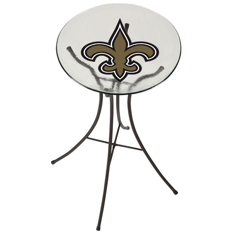 Evergreen Decorative Glass Bird Bath Bowl - New Orleans Saints