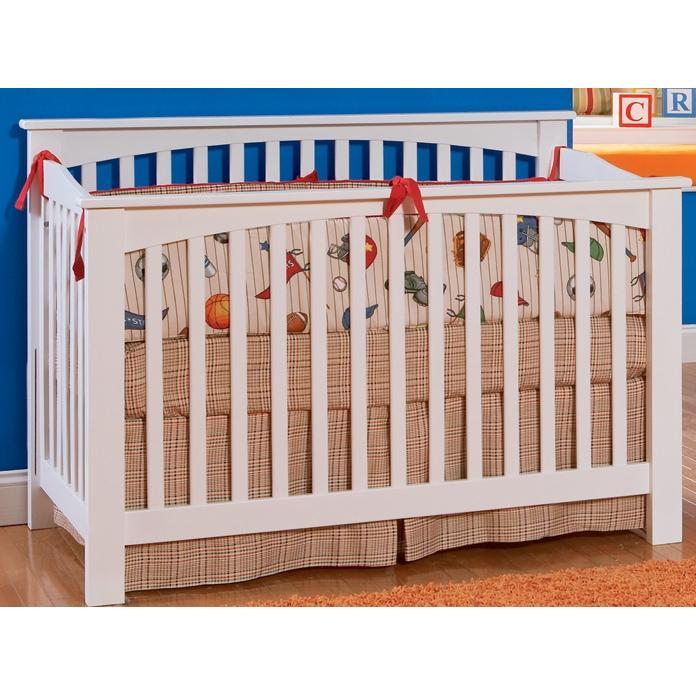 Atlantic Furniture 4013230 Columbia Crib / Full Bed White