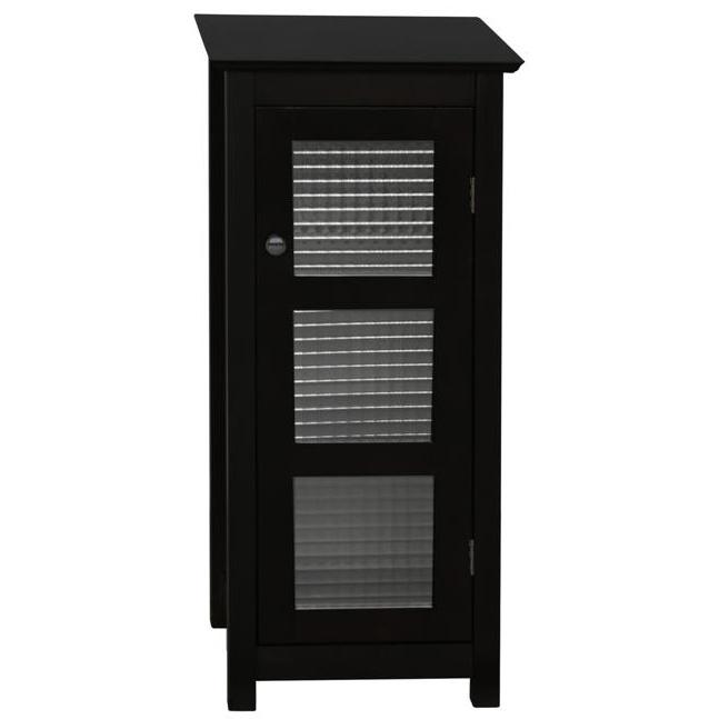 Elegant Home Fashions Chesterfield Floor Cabinet, 1 Glass Doors 6216