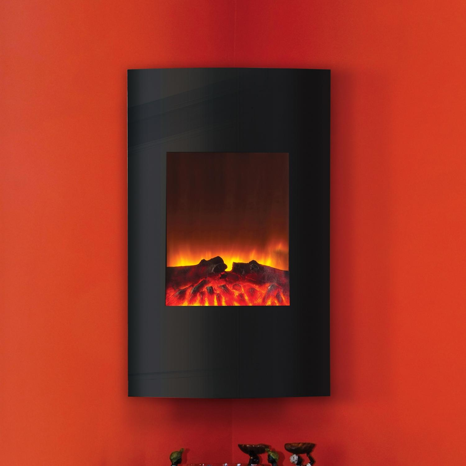 Picture of Amantii 21-Inch Vertical Convex Wall Mount Electric Fireplace - WM-2134