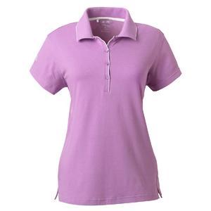 Adidas Golf Ladies ClimaLite Tour Jersey Short Sleeve Polo Shirt 2XL - Viola/White