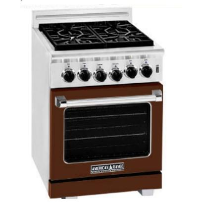 American Range ARR-244 24 Inch Natural Gas Range With 4 Burners - Mahogany