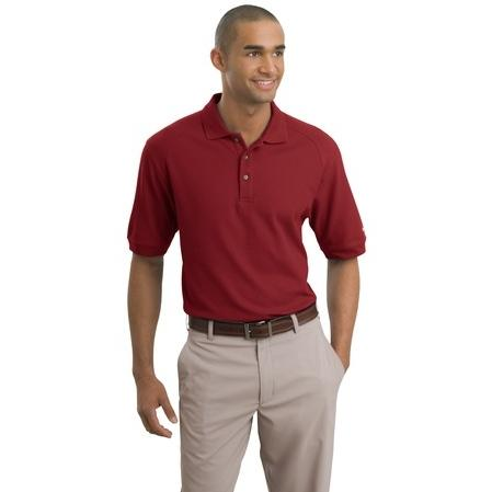 Nike Golf Pique Knit Polo Shirt XL - Pro Red