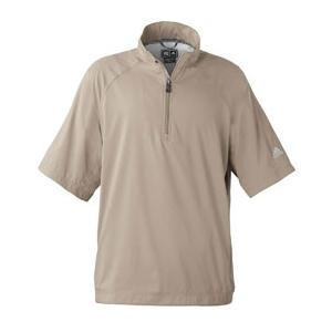 Adidas Golf Mens ClimaProof Short Sleeve Wind Shirt 2XL - Khaki/White