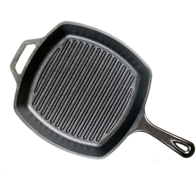 Lodge Pans Square Seasoned Cast Iron Grill Pan - L8SGP3