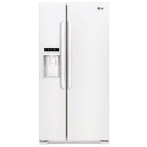 LG LSC23924SW 23 Cu. Ft. Side By Side Refrigerator / Freezer - White