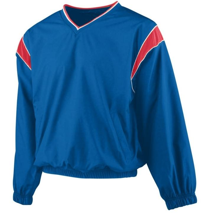 Augusta Micro Poly Windshirt 2XL - Royal/Red