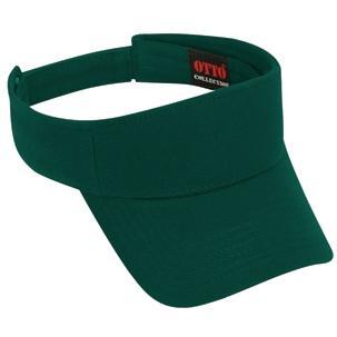 Otto Cap Comfy Cotton Pique Knit Sun Visor - Dk. Green