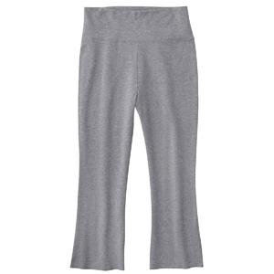 Bella Ladies Cotton/Spandex Capri Pant Large - Deep Heather