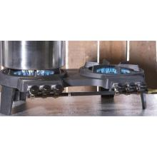 Portable Cast Iron Double Burner With Pot