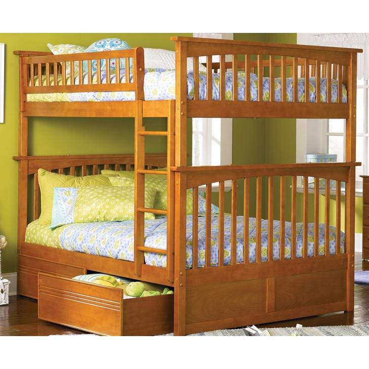 Atlantic Furniture 2021700 Columbia Twin / Full Bed Caramel Latte