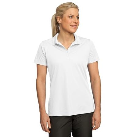 Polo-Tek Ladies Micropique Sport-Wick Polo Shirt Large - White