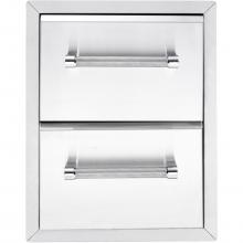 KitchenAid 18-Inch Stainless Steel Double Access Drawer - Large Drawers - 780-0016 KitchenAid 18-Inch Stainless Steel Double Access Drawer - Large Drawers - 780-0016