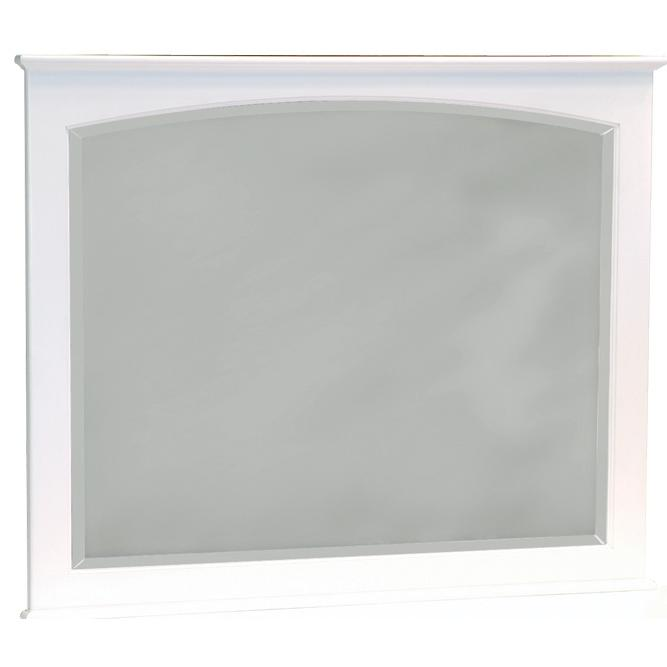 Atlantic Furniture 71002 Landscape Beveled Mirror White