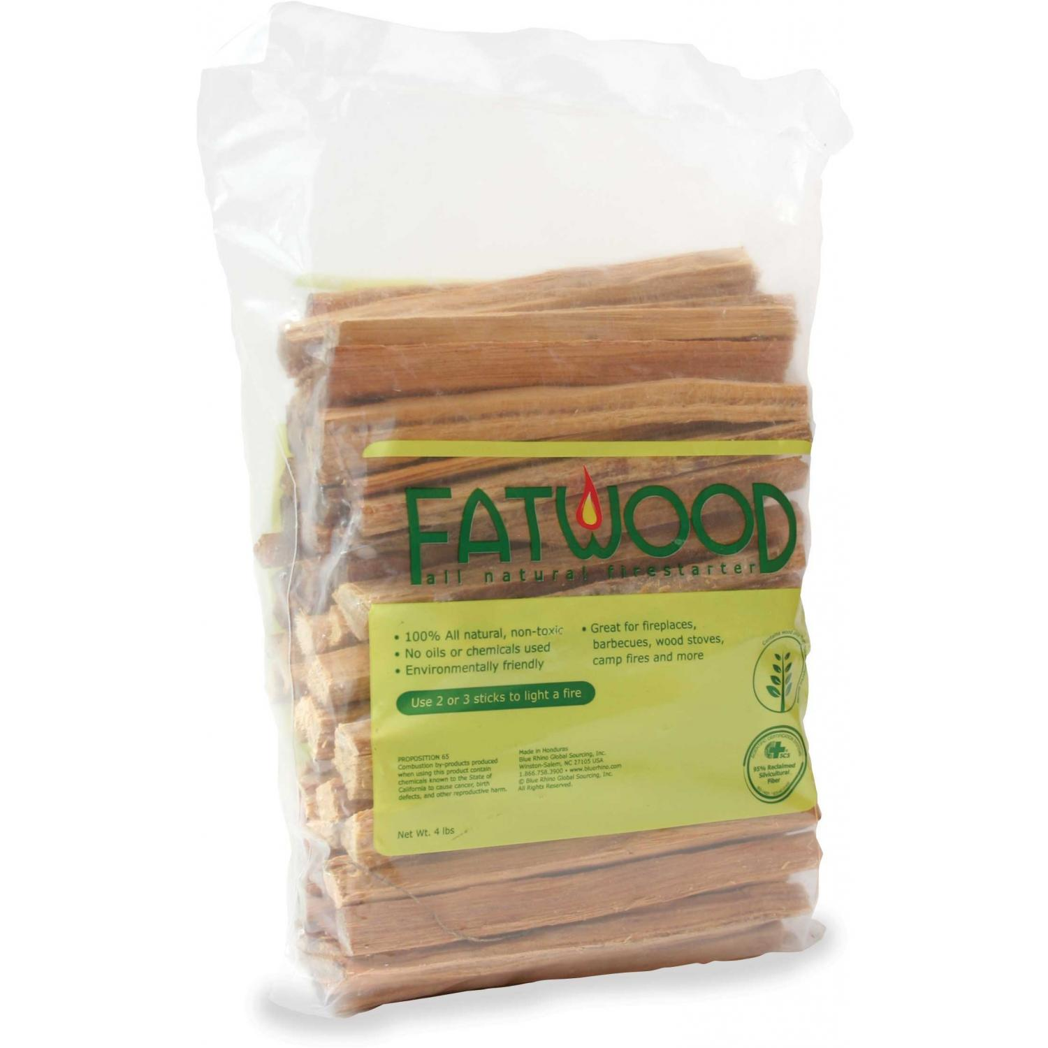 UniFlame Fatwood Firewood Starter - 4 Lb Poly Bag