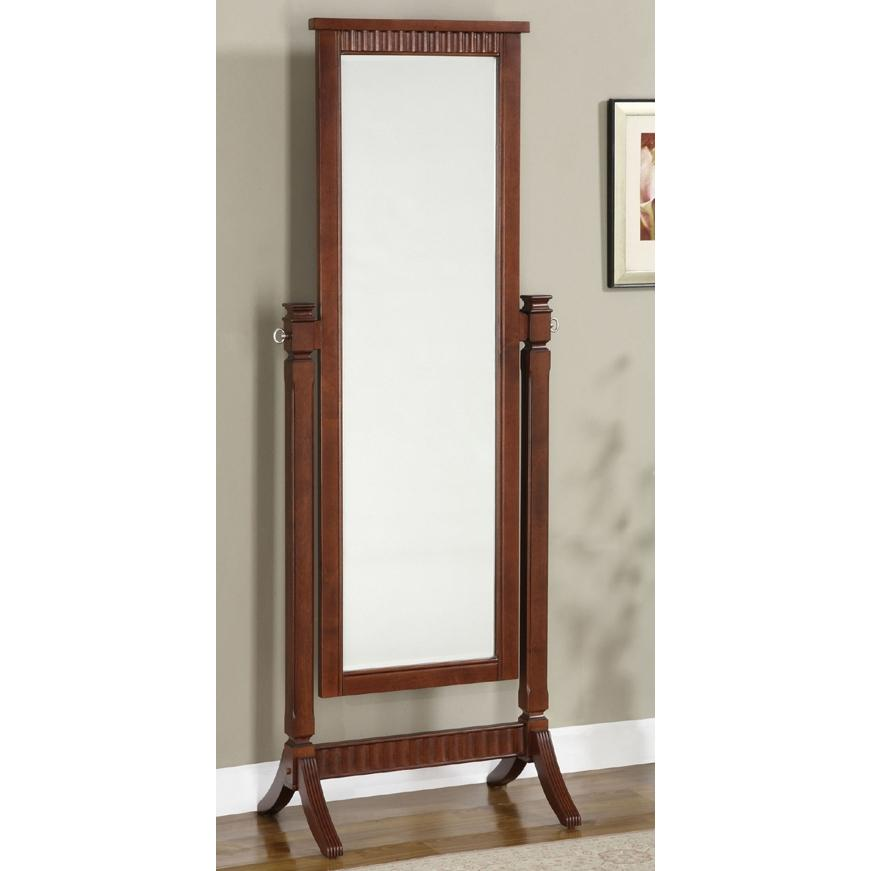 Powell Furniture - Contemporary Merlot Cheval Mirror - 383-773