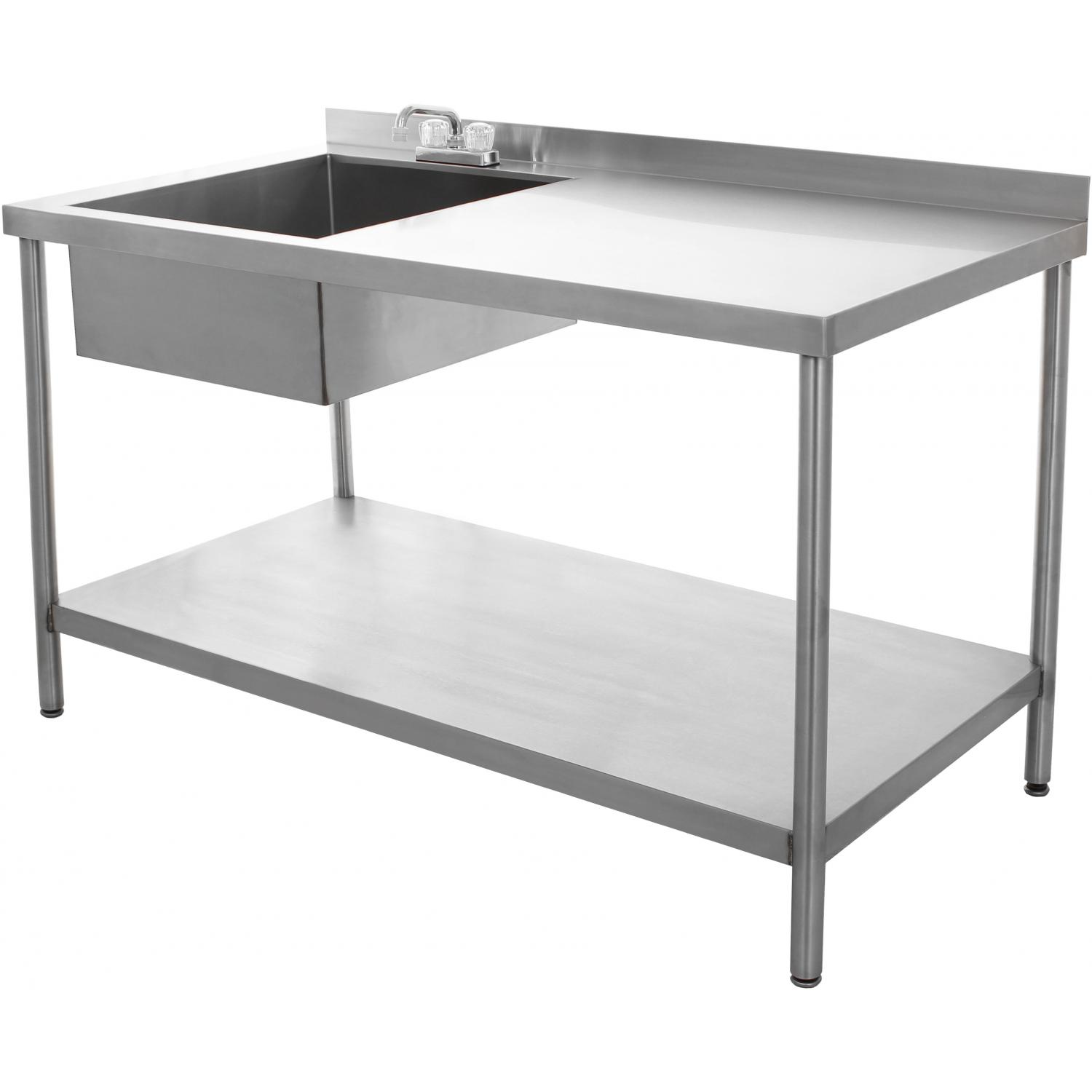 Picture of BBQGuys.com 30x60 Stainless Steel Utility Table With Sink And Faucet
