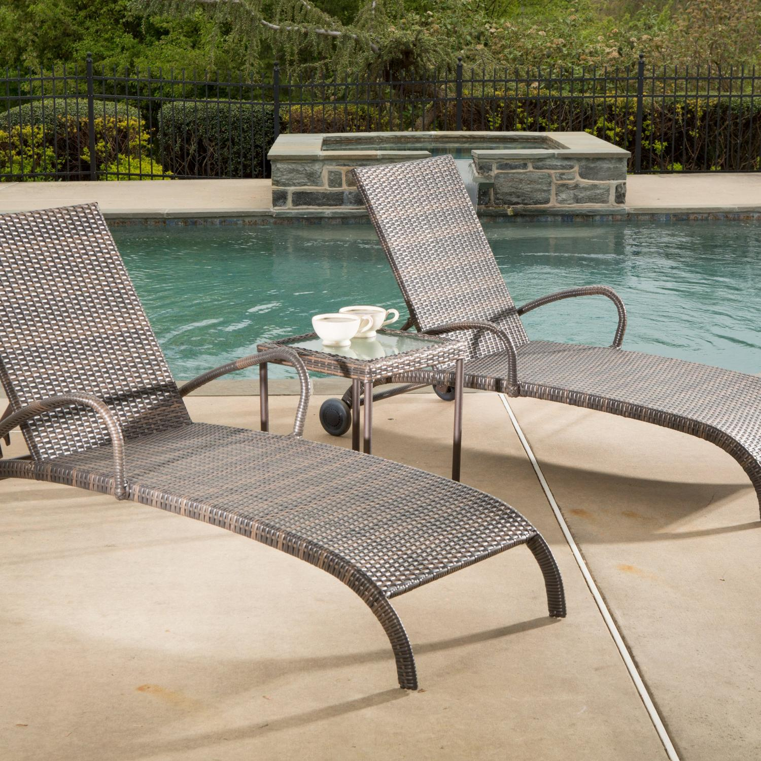 Picture of Alfresco Home Tutto All Weather Wicker Chaise Lounge Set