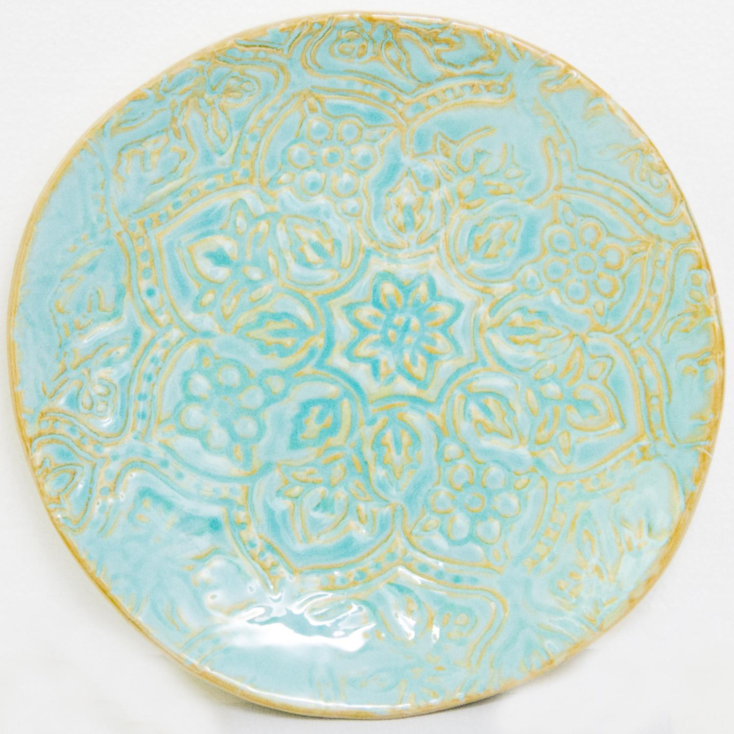 Picture of Artisan Tile - Turquoise 9.5 In Salad Plate