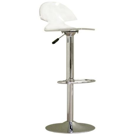 Romney Acrylic Adjustable Swivel Barstool