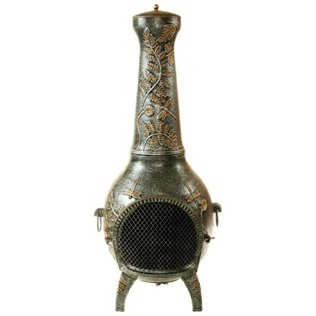 Oakland Living Dragonfly Chimenea - Antique Pewter