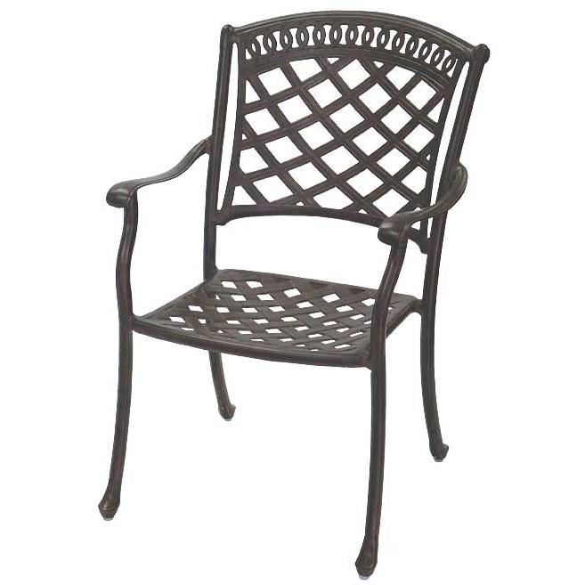 Darlee Sedona Cast Aluminum Outdoor Patio Dining Chair - Mocha