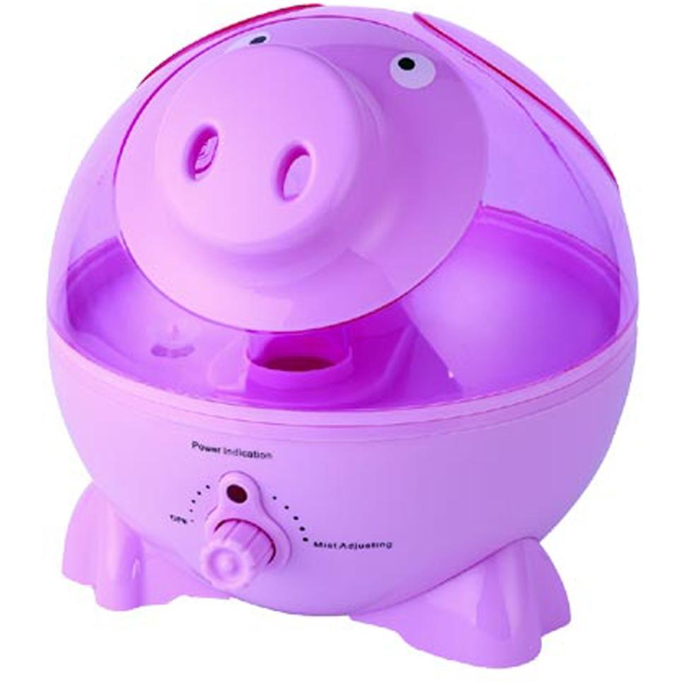 Sunpentown Personal Humidifier Pink Pig Design - SU-3751
