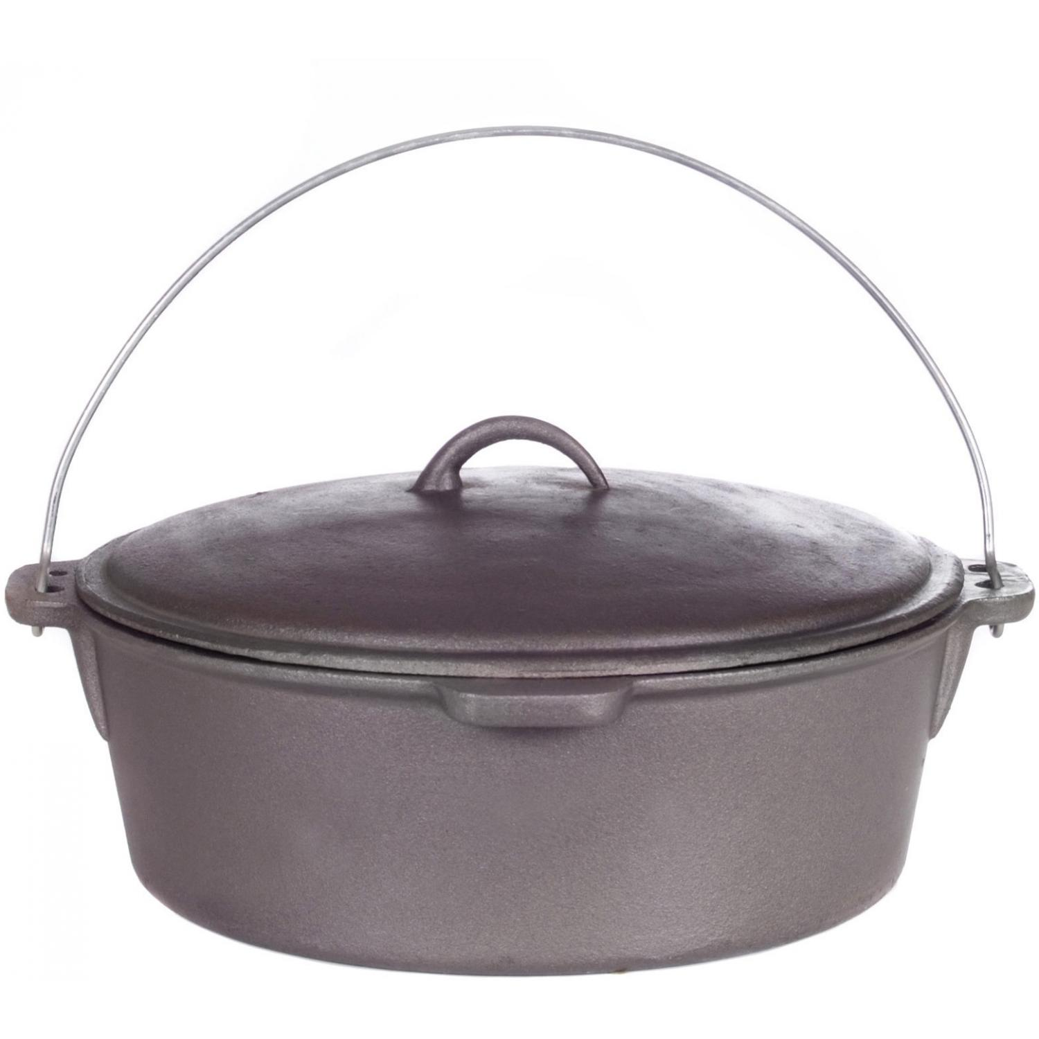 Cajun Cookware Dutch Ovens 12 Quart Cast Iron Dutch Oven